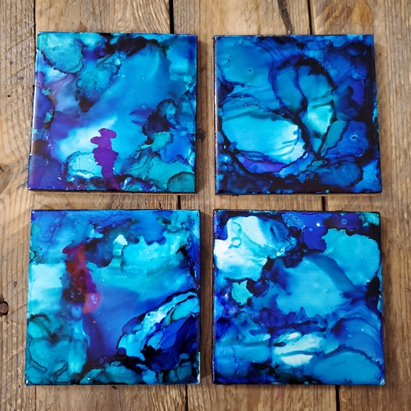 Handmade Alcohol in Coaster set of 4